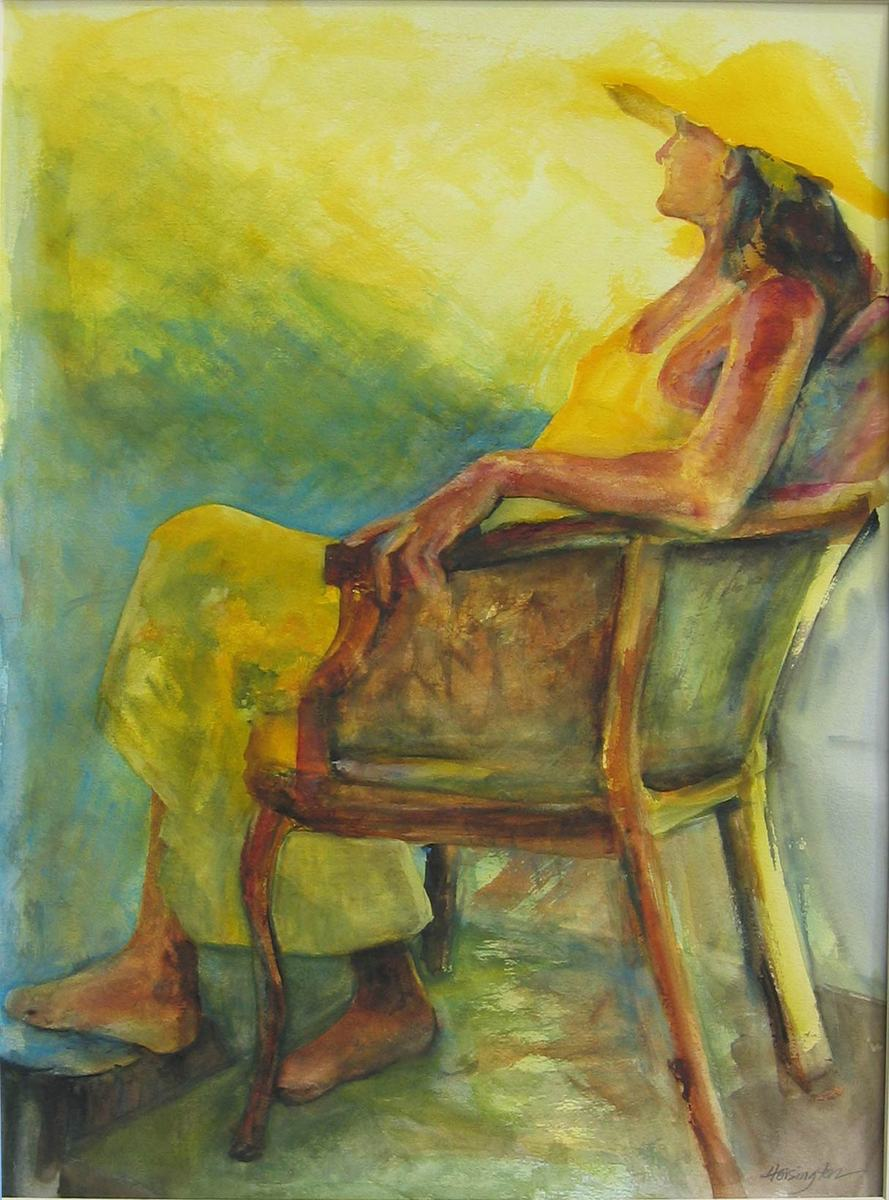 """Sunshine"" watercolour, 61x46 cm, 24x18 inches, private collection, USA"