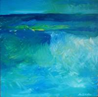 """Storm"" oil on canvas, 2x2 ft, 61x61 cm, private collection, Manly, Australia"