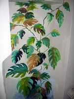"""The Vine"" partial view of mural in house in Queretero, Mexico."