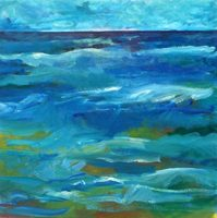 """Ocean Deep"" oil on canvas, 2x2 ft, 61x61 cm, private collection, Maryland, USA"