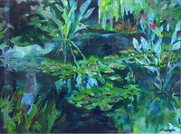 """Giverny Green"" acryllic, 18x24 inches, 46x61 cm, [private collection, Sydney, Australia]"