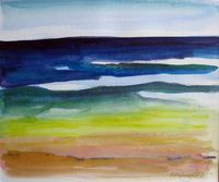 """Wave Rainbow,"" watercolour on paper, 8x10 in. 21x26 cm, [private collection, Tokyo, Japan]"