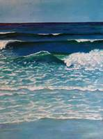 """Rolling In"" oil on canvas,  102x76 cm, 40x30 inches [private collection, Sydney, Australia]"