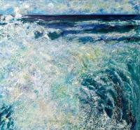 """Splash"" oil on canvas, 61x61 cm, 24x24 inches; private collection, Sydney, Australia"