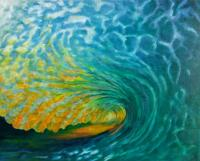 """Daybreak Wave"" oil on canvas, 61x76 cm, 24 x 30 inches, private collection, Sydney, Australia"