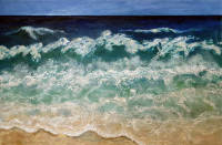 """Manly Beach Colours,""  oil on canvas, in studio, Sydney"