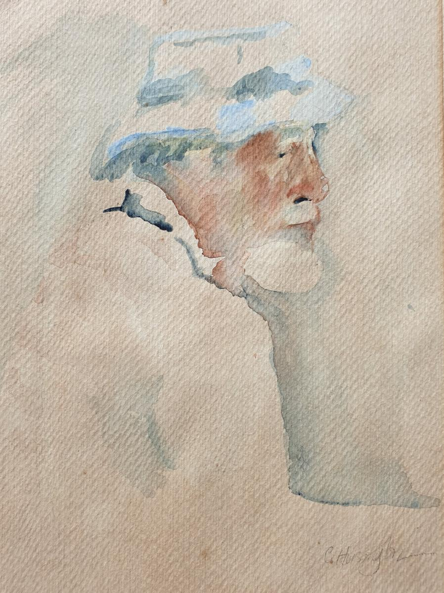 """Ted's Friend"" watercolour, collection of the artist"