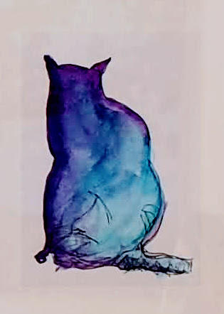 """Purple Cat"" Maryland, USA; framed, available in studio"