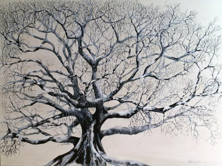 """winter"" available; as archival print on paper or on canvas; size to be chosen"